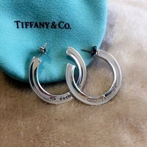Tiffany & Co. 1837 Sterling Silver Hoops.